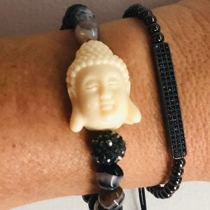 Black Tourmaline Buddha Bracelet